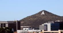 'A' Mountain and downtown Tucson. Photo by Jesus Barrera / The Daily Wildcat