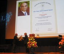 Dr. Achintya Haldar recieves the Society for Reliability and Safety's Lifetime Achievement Award.