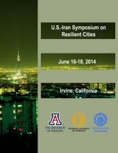 Cover of the proceedings of the 2014 U.S.-Iran Symposium on Resilient Cities