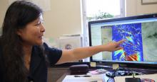 Jennifer Duan has developed a new hydraulic modeling program, CHRE2D. (Photo: Paul Tumarkin/Tech Launch Arizona)