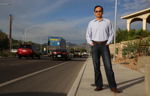 Metropia technology inventor and UA faculty member Yi-Chang Chiu. (Photo: Paul Tumarkin/Tech Launch Arizona)