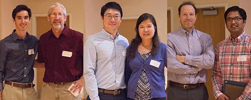 From left: Outstanding Senior Luis Valdez with Department Head Kevin Lansey; Outstanding Graduate Student Jaeho Shim with associate professor Jennifer Duan; professor Robert Fleischman with Outstanding Graduate Teaching Assistant Anshul Agarwal