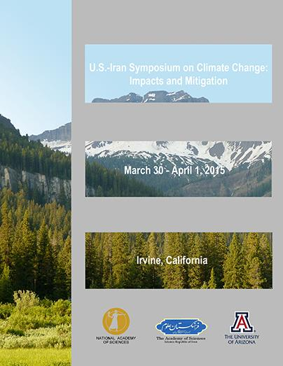 Cover of the proceedings of the 2015 U.S.-Iran Symposium on Climate Change