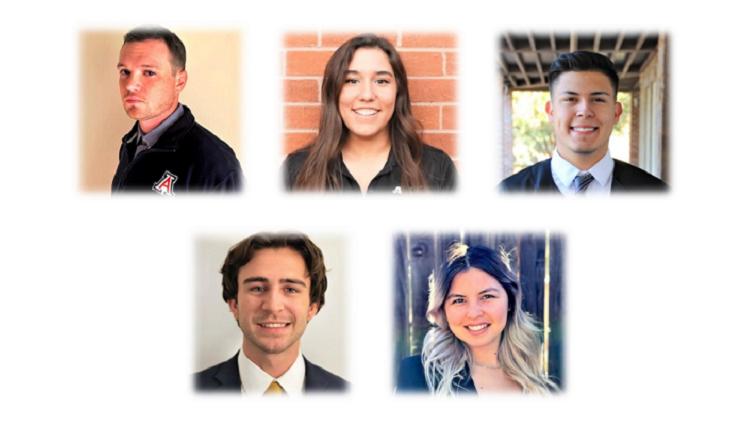 Patrick Akins, Faith Aroz, Luis Romero, Josh Richter and Esmeralda Rodriguez